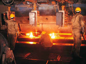Industrial output for April has been revised up to 2.2 per cent from 2 per cent, a government statement said on Thursday