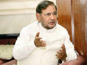 JD-U's formal split with the NDA seems Sharad Yadav arrives in Patna tomorrow for a crucial meeting with party legislators to discuss the issue