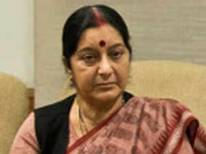 Swaraj's tweet was seemingly aimed at invoking JD(U) leader and Bihar chief minister Nitish Kumar's anti-Congressism