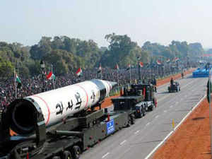 The capability is being developed by DRDO as part of the Ballistic Missile Defence (BMD) shield, whose first phase is ready for deployment.  File photo: Agni-5 missile on display at Rajpath during 64th Republic Day celebrations in New Delhi.