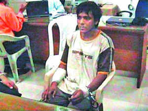 India has given a written assurance to Pakistan that a legal panel of that country will be allowed to cross examine four witnesses in the 26/11 attacks case when it visits Mumbai for the second time. In Pic: The lone surviving terrorist Mohammad Ajmal Kasab from the  26/11 terrorist attack.