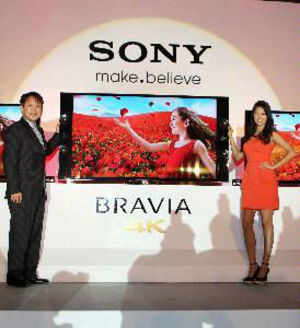 Sony Bravia today launched 2 new products in its high-end 4k technology series priced at Rs 3.04 lakh and Rs 4.04 lakh, targeting customers in the metros.