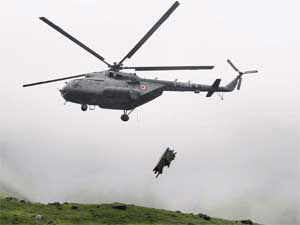 An IAF rescue helicopter Mi-17 crashed in Gaurikund. According to reports, eight people onboard, including five crew members were killed.