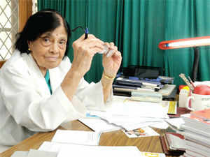 Dr Sivaramakrishna Iyer Padmavati, who, at 96, is as active now as she was when she started treating patients in India 60 years ago.