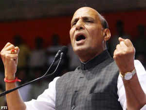 """Rajnath said, """"Why the UPA-led Congress government took so long in passing the bill and that too through the ordinance route even though it had promised to bring the Bill within 100 days of coming to power after 2004 elections""""."""