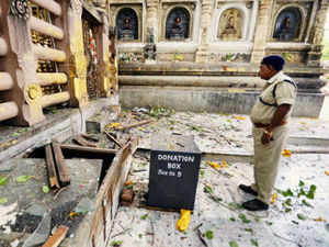 Terror struck the temple town of Bodh Gaya in Bihar, as nine serial explosions rocked the Mahabodhi Temple complex on Sunday morning