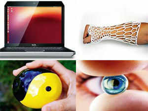 From a ball with a camera embedded, to a flashlight that is powered by body heat, to a contact lens that zooms on its own.