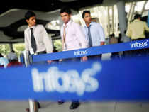 Infosys Ltd rallied over 2%, a day before India's second biggest IT firm will declare its results for the June quarter