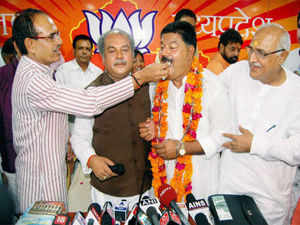 Choudhary Rakesh Singh Chaturvedi, deputy leader of the Congress Legislature Party, joined the saffron outfit after expressing his opposition to a Congress-sponsored no- confidence motion in the Assembly and criticising AICC General Secretary Digvijay Singh over a tweet.