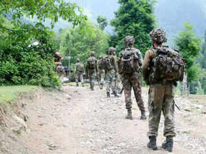 Pakistani troops today fired on Indian forward posts along the International Border in this district of Jammu and Kashmir, a BSF officer said.