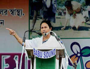 In the backdrop of Gujarat Chief Minister Narendra Modi's 'I'm a Hindu nationalist' remark, West Bengal Chief Minister Mamata Banerjee today accused BJP of dividing Hindus and Muslims.