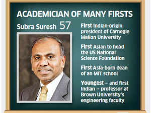 When Carnegie Mellon President Subra Suresh kept his date with Indian roots