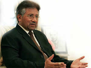 Musharraf was produced in an anti-terrorism court in Rawalpindi amidst tight security for today's hearing in the Bhutto assassination case headed by judge Habibur Rahman.