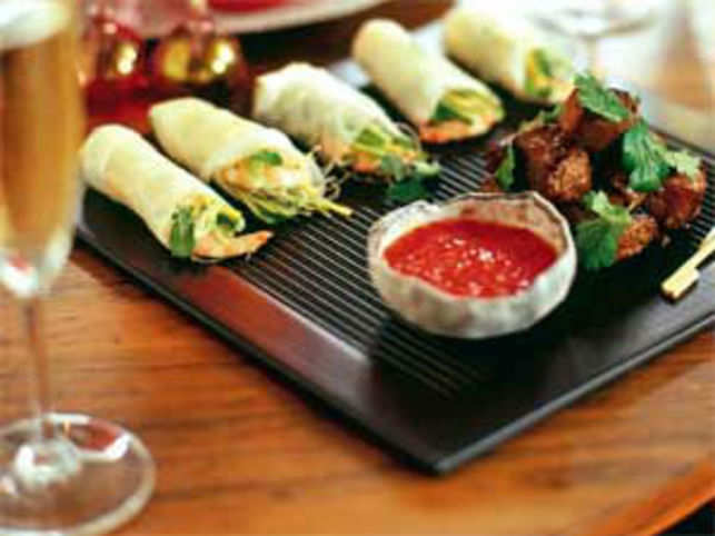 Asian tapas though is the buzzword in the dining capitals of the world these days. These could be nothing more than small appetizers that could include anything from Thai fish cakes and Vietnamese spring rolls to Indian style chaat or tandoori bites presented imaginatively.