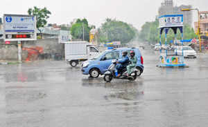 Heavy rain hits normal life in Rajasthan; mercury up in north