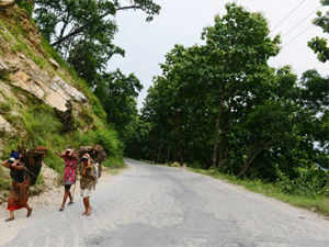 """Life remained paralysed in the Darjeeling hills as there was no transport on the roads and markets were closed on the first day of the two-day """"Janata Curfew""""."""