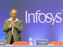 Infosys hit a 28-month high, while Tech Mahindra, Wipro and MindTree hit their respective 52-week highs in intraday trade on Tuesday.