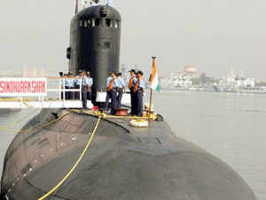INS Sindhurakshak, a Russia-made Kilo class submarine first commissioned in 1997 and comprehensively upgraded last year.  File photo: INS Sindhurakshak submarine docked in Visakhapatnam.