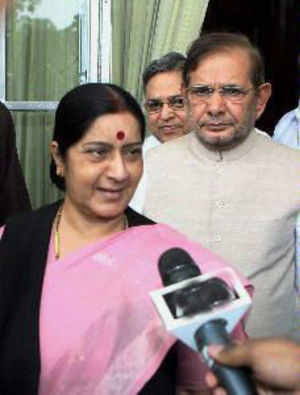 She was addressing a gathering at Arang near here after flagging off the second phase of Raman Singh's 'Vikas Yatra'.