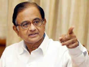 Chidambaram was accompanied by his top officials, including economic affairs secretary Arvind Mayaram and financial services secretary Rajiv Takru.