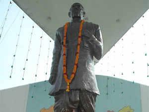 Gujarat plans to erect the 182 metre statue, the world's tallest one, at Sadhu Bet, an island near the Sardar Sarovar Dam.