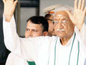 VHP chief Ashok Singhal taken into custody at Lucknow Airport on Sunday.