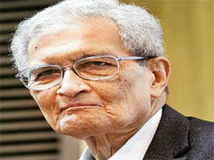 The debate between Amartya Sen and Jagdish Bhagwati began with the identification of Bhagwati with growth and Sen with redistribution.