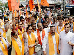 Terming ban on Yatra and indiscriminate arrests as violation of fundamental and religious rights of Hindus, protesters sought intervention of the President of India for restoring these rights.