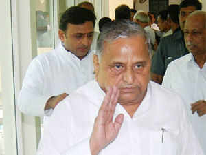 Mulayam Singh today held a meeting with Akhilesh Yadav, ministers and senior officials while the Army staged a flag march in the strife-torn district