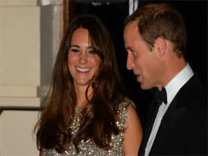Britain's Prince William, Duke of Cambridge, and his wife Catherine, Duchess of Cambridge.