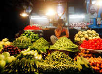Prices of brinjal, bottle gourd and cabbage have already fallen up to 15% in the past one month although onions and potatoes have risen.
