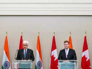 Minister of External Affairs Salman Khurshid along with his Canadian counterpart John Baird chaired the first round of the Strategic Dialogue in Ottawa yesterday.