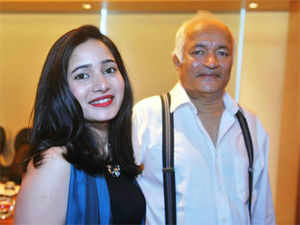 Prakash Chauhan, chairman, Parle Agro make an rare appearance to address press conference along with his daughter Nadia Chauhan Kurup.