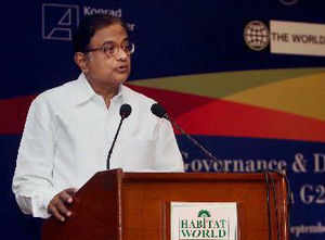 Finance Minister P Chidambaram said the right value of the rupee is 59-60 to a dollar and it should not overshoot that level.