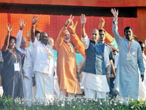 BJP today said the party's September 25 workers' rally at Bhopal was a world record vis-a-vis largest assembly of its kind, even as it expressed confidence of winning more allies before and after the Lok Sabha elections.