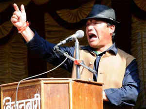"""""""I congratulate the Union Government for taking a step towards the creation of Telengana. In this context I would want the Government to take a positive step for the creation of Gorkhaland,"""" Gurung commented on Facebook."""