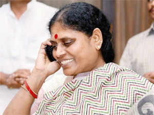 """""""He was against TRS. He never promised Telangana. But for the pressure from the high command, he was confident of contesting alone ..,"""" she told ."""