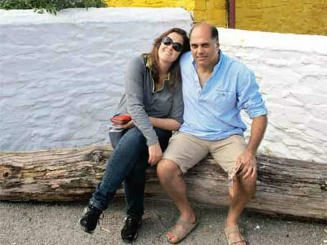 Peter Kerkar with his wife Emma in Kerry Islands, Ireland