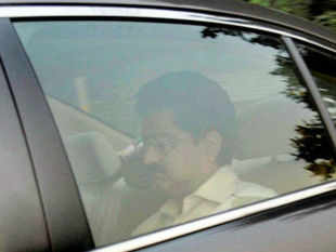 """""""As of now I am not worried about it... There is nothing wrong, so why should one worry?"""" Birla told reporters after a meeting with FM.  In pic: Industrialist Kumar Mangalam Birla leaves after a meeting with Finance Minister P Chidambaram in New Delhi on Friday."""