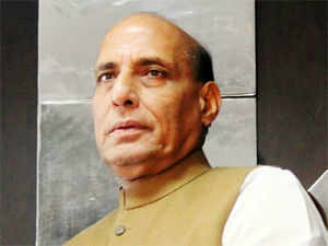 """Rajnath described inflation and corruption as bane of Congress rule and said people were fed up with policies """"which create differences among people and society"""""""