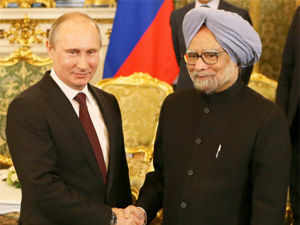 Prime Minister Manmohan Singh and Russian President Vladimir Putin today showered accolades on each other for pushing the bilateral relationship.
