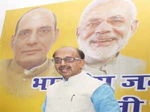 Vijay Goel  who till last week was vocal about leading Delhi BJP was a bid subdued on Monday, amid indications that Vardhan may be named BJP's CM candidate.