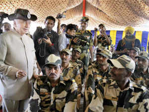 Sushilkumar Shinde today visited the sites of recent twin terror strikes and conducted an aerial survey of the area near the International Border.