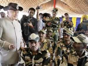 Sushilkumar Shinde said Lashkar-e-Taiba(LeT) founder Hafiz Saeed could be training terrorists on the other side of Indo-Pak border for infiltration.