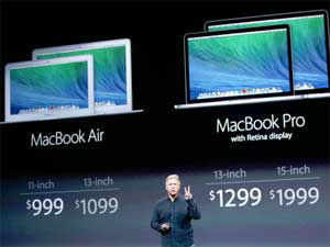 The 13-inch Macbook Pro is thinner and faster than its predecessor and weighs 3.46 pounds. It is 0.71 inches thin, said Apple.