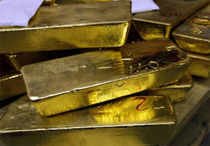 Precious gold continued its bullish momentum for the third straight day at the bullion market here on sustained wave of buying from stockists and jewellers.