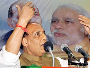 BJP President Rajnath Singh today hit out against Congress, saying it was the 'most communal' party in the country.
