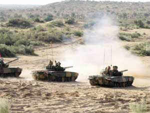 """Troops of India and Russia are engaging each other in war games codenamed exercise """"Indra"""" at the Mahajan range under scenarios and situations resembling South Sudan."""