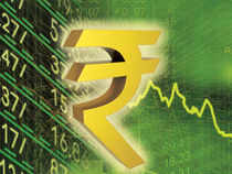 The rupee moved in a range of 61.44 and 61.78 per dollar during the morning deals.