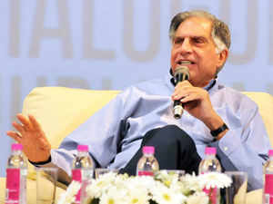 """""""As an when it happens, we would be very happy to look at it,"""" Ratan Tata said when asked whether he would be interested if Air India was privatised. (BCCL)"""